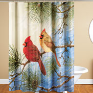 Winter Solitude Cardinal Shower Curtain - 40690