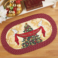 Christmas Tree Inspirational Braided Rug - 40710