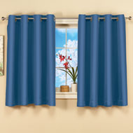 Short Blackout Curtain Panel w/ Easy Open-Close
