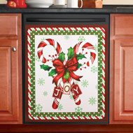 Candy Cane Christmas Dishwasher Magnet - 40737