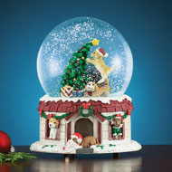 Christmas Pets Musical Snow Globe Decoration - 40738