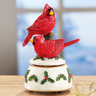 Cardinal Christmas Music Box - 40743