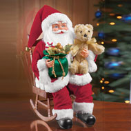 Musical Santa Claus Figure in Rocking Chair
