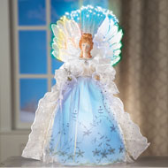 Fiber Optic Winter Angel Decoration - 40753