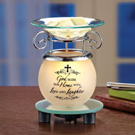 Lighted God Bless our Home Wax Warmer