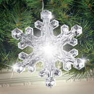 Large Acrylic LED Snowflake Light String - 40759