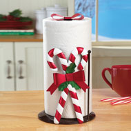 Candy Cane Christmas Paper Towel Holder - 40760