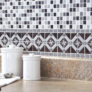 Diamond Tile Peel & Stick Backsplash Border Set - 40772