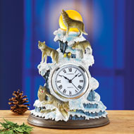 Winter Wolf Table Clock