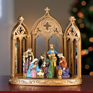 Mirrored Christmas Nativity Scene Decoration - 40795