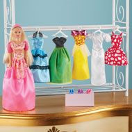 Princess Dress Up Doll with Wardrobe