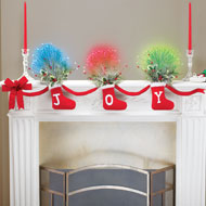 Fiber Optic Joy Christmas Stockings Garland - 40860