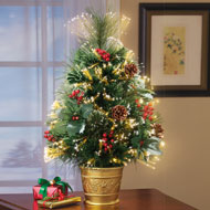 Fiber Optic Pine Tabletop Christmas Tree - 40884