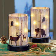 Northwoods Lighted Candle Hurricane - 40911