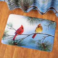 Cardinal Bath Rug Winter Decoration - 40930