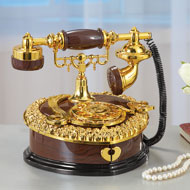 Antique Telephone Music Box Keepsake - 40934