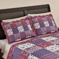 Windsor Floral Paisley Patchwork Pillow Sham - 40975