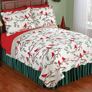 Winter Cardinals Christmas Quilt - 40978