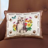 Cheerful & Charming Cat Pillow