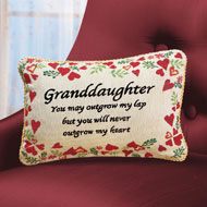 Never Outgrow My Heart Granddaughter Pillow - 41331