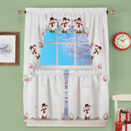 Snowman Cardinal Window Curtain Collection