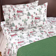 Snowman Christmas Flannel Sheets - 41413