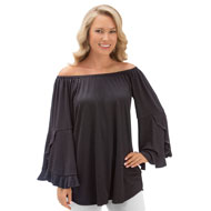 Convertible Off the Shoulder Bell Sleeve Top - 41414