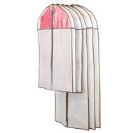Moth Free Clothes Protector Garment Bags - 6pc - 41448