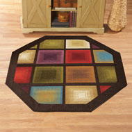 Optic Squares Geometric Octagon Rug - 41457