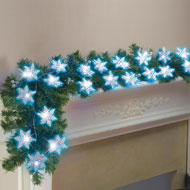 Battery Operated Snowflake String Lights