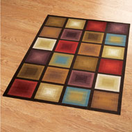 Geometric Optic Squares Area Rug - 41570