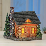 Northwoods Cabin Tabletop Decorative Light - 41595