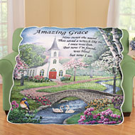 Amazing Grace Quilted Throw Blanket