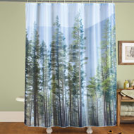 Pine Forest Scene Shower Curtain - 41659
