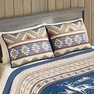 Etched Deer Aztec Cabin Pillow Sham - 41669