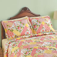 Garden Floral Patchwork Pillow Sham - 41678