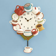 Coffee Cup Pendulum Wall Clock - 41705