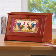 Sunflower Rooster Bread Storage Box - 41711