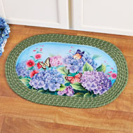 Hydrangea Garden Oval Braided Accent Rug - 41721