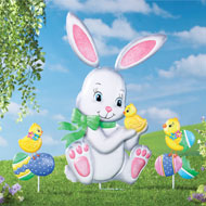 Easter Bunny and Friends Garden Stake Set