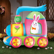 Inflatable Easter Bunny Train Decoration - 41744