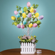 Lighted Easter Egg Tree Table Decoration