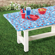 Americana Stars Elastic Wipe Clean Tablecloth - 41758