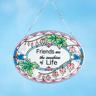 Friends are the Sunshine of Life Sun Catcher