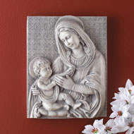 Mary and Baby Jesus Wall Art Sculpture - 41790