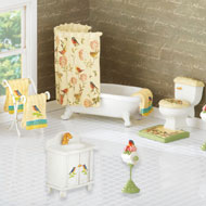 Birds and Blooms Mini Bathroom Furniture Set - 41810