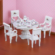 Miniature Tea Dining Table Set - 20pc - 41811
