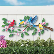 Songbirds on Tree Metal Outdoor Wall Decor - 41833