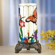 Springtime Glass Tabletop Lamp with Remote Control - 41880