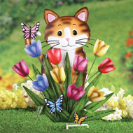 Peek a Boo Kitty in Garden Stake - 41892